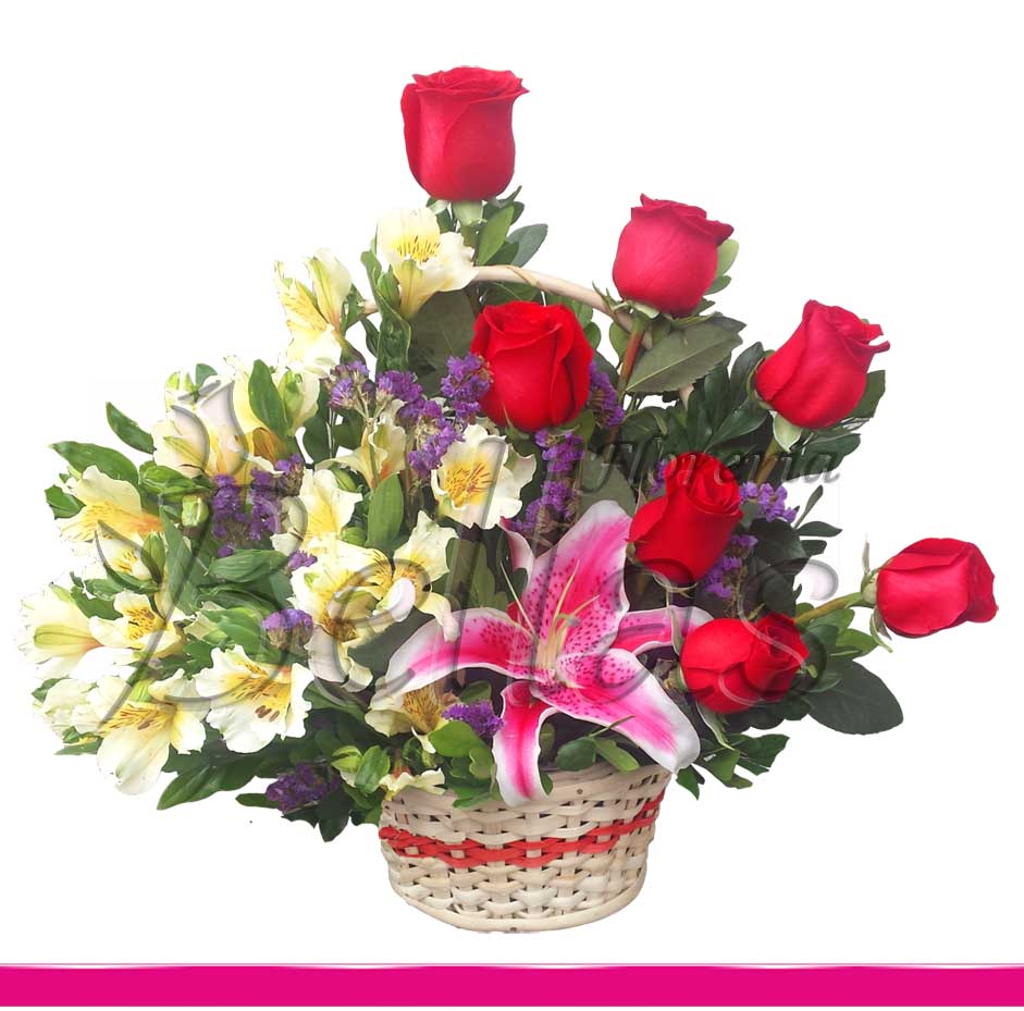 Arreglo Con Rosas Y Astromelias Am 26