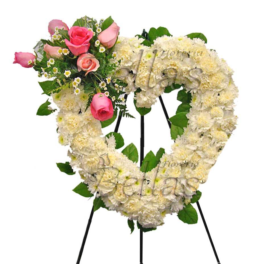 Arreglo Fúnebre Con Forma De Corazón Fu 12