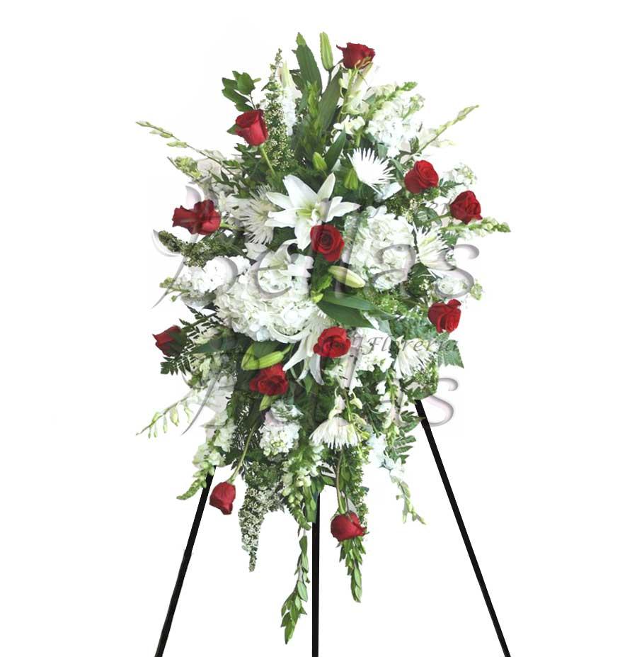 Lágrima Fúnebre Con Rosas Y Hortensia Lf 03