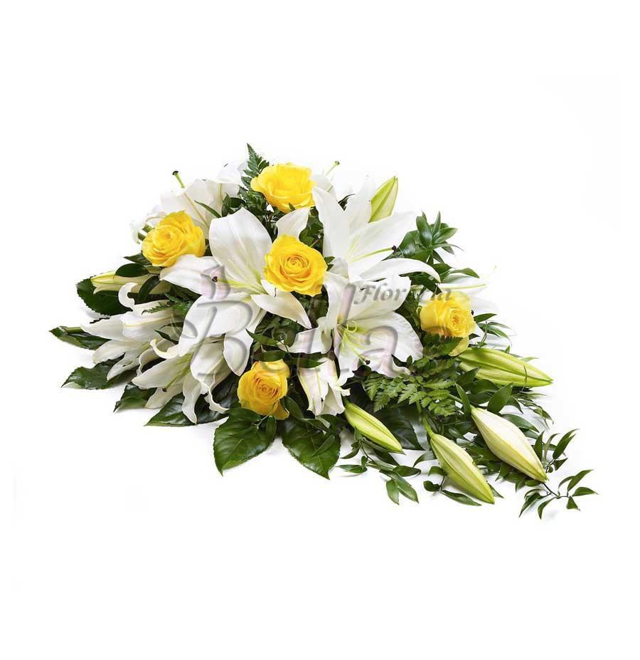 Lágrima Fúnebre Con Rosas Y Lirio Lf 06