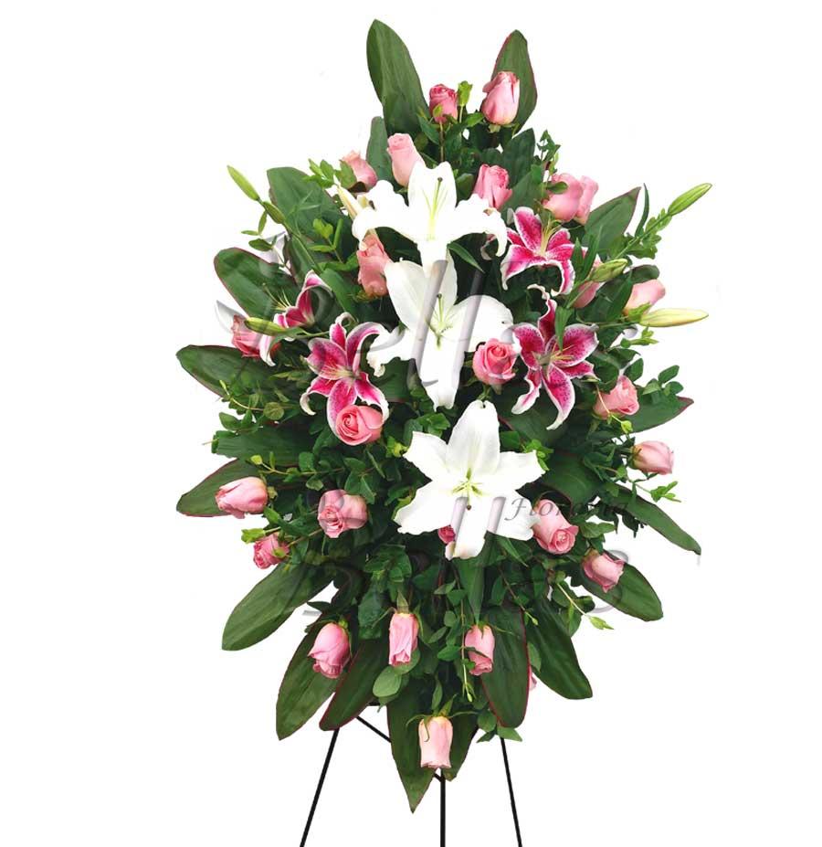 Lágrima Fúnebre Con Rosas Y Lirios Lf 01