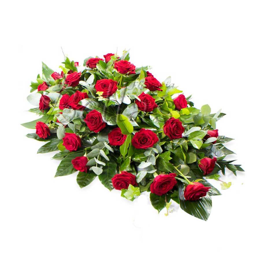 Lágrima Fúnebre De Piso Con Rosas Lf 05