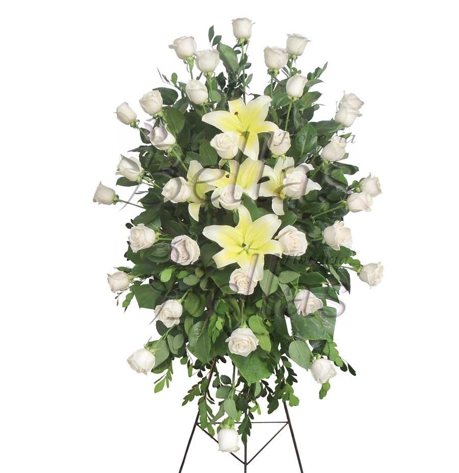 Lágrima Fúnebre Con Rosas En Trípode Lf 02